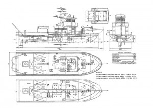 新造船予定図面